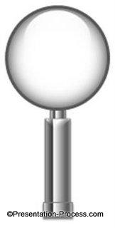 Powerpoint Magnifying Glass Tutorial Presentation Process Creative Presentation Ideas